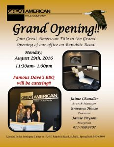 Grand Opening Republic Road Office