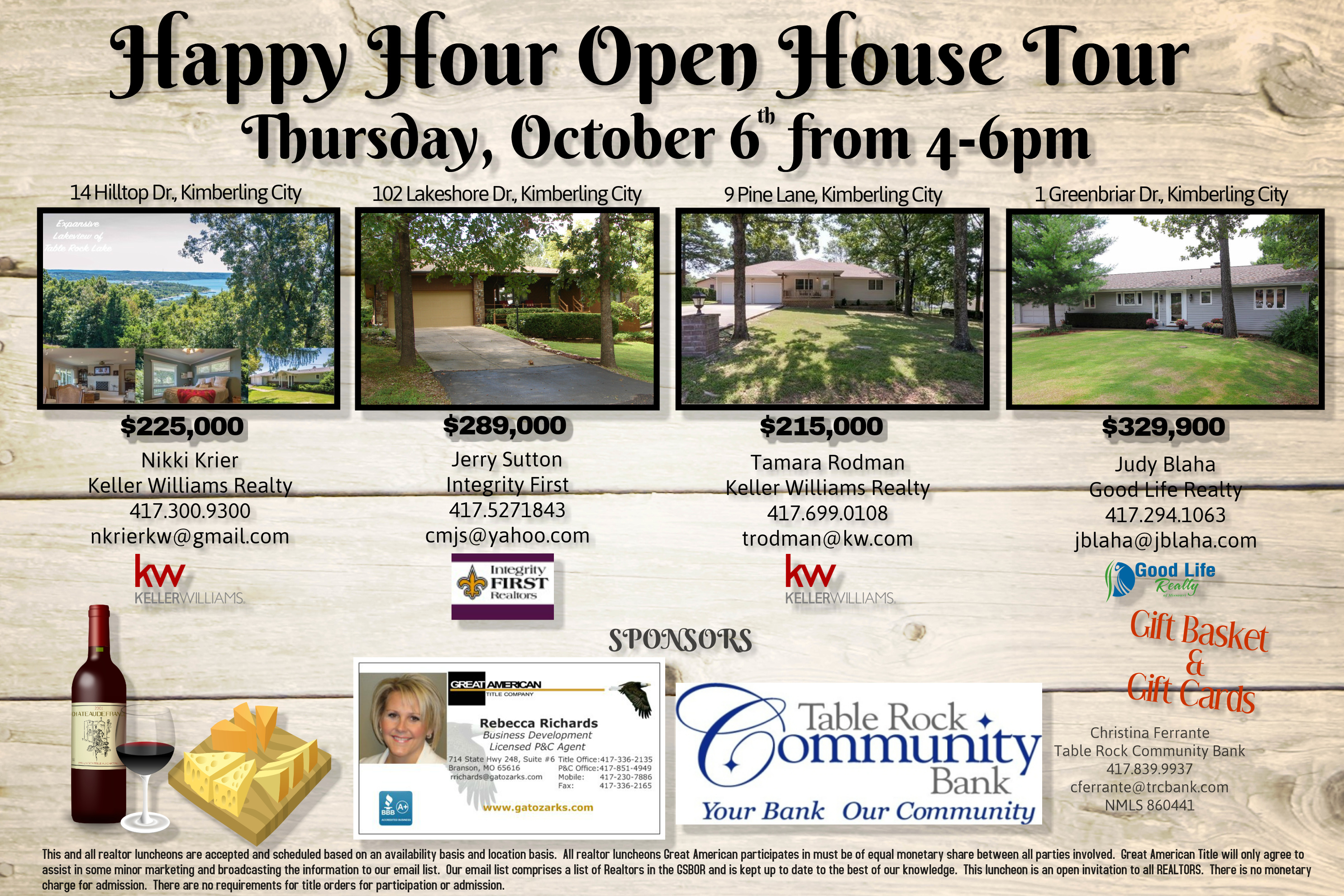 Happy Hour Open House Tour! - Great American Title Company