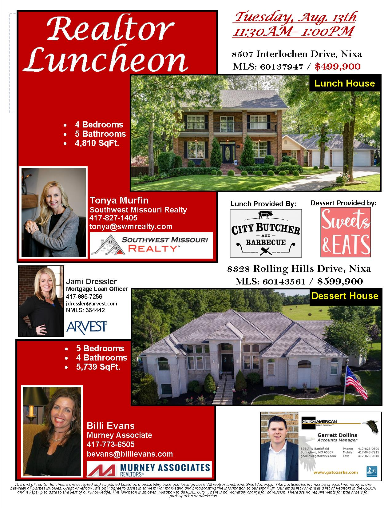 Come Check it out! Nixa Realtor Luncheon! Tuesday August